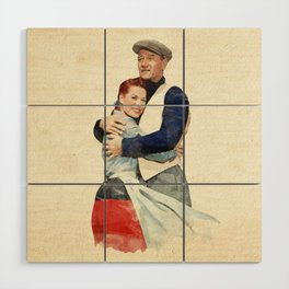 The Quiet Man - Watercolor Wood Wall Art