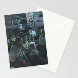 Watching Soccer in Burma Stationery Cards