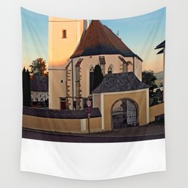 The village church of Sankt Oswald bei Haslach   architectural photography Wall Tapestry