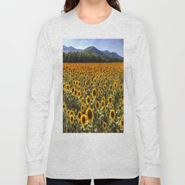 Sunflower Fields Of Dreams Long Sleeve T-shirt