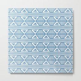 Mudcloth Pattern 328 Blue Metal Print