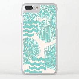 Jungle Green Clear iPhone Case