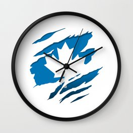 Canadian Blue Flag Pride Wall Clock