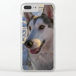 Snow day with the Dog Clear iPhone Case