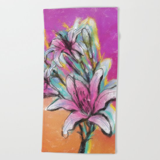 Colorful Spring mood Beach Towel