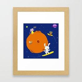 Space Fun Framed Art Print