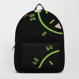 Car Guy Car Speedometer Heartbeat Pulse Backpack