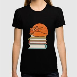 With Books And Cats Life Is Sweet T-shirt