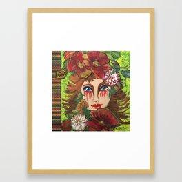 Lady Wood Framed Art Print