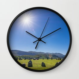 Castlerigg Stone Circle in English Lake District Wall Clock