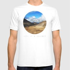 Life Is A Journey (Colour)  Mens Fitted Tee White MEDIUM