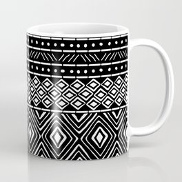 African Mud Cloth // Black Coffee Mug