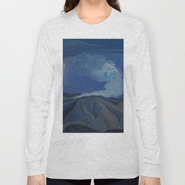 Canadian Landscape Oil Painting Franklin Carmichael Art Nouveau Post-Impression The Nickel Belt 1928 Long Sleeve T-shirt