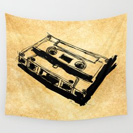 Retro Cassette Tape Wall Tapestry