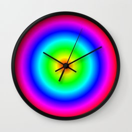 Rainbow Donut Clock Wall Clock