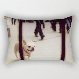 Dog Walking Rectangular Pillow