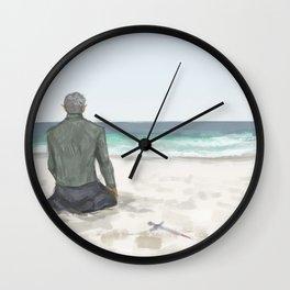 Rowan on the Beach Wall Clock
