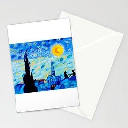 Modern Starry Night Stationery Cards
