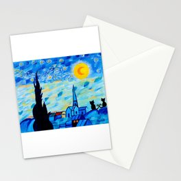 Modern Starry Night Stationery Cards