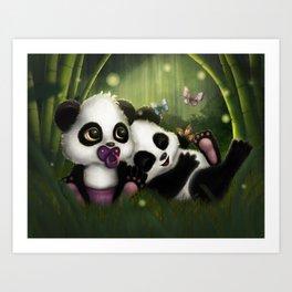Baby Panda Bears Art Print