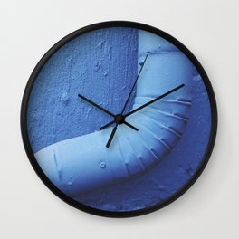 Blue Gutter Wall Clock