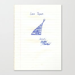 the Lone Tepee Canvas Print