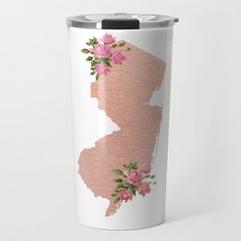 Baesic Rose Gold New Jersey Travel Mug