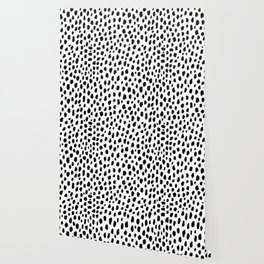 Dalmatian Spots (black/white) Wallpaper