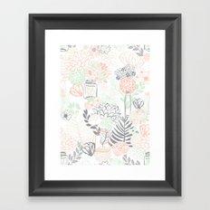 Cucumber Peaches and Cream Mason Jar wedding Framed Art Print