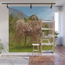Weeping Pink Cherry Tree Wall Mural