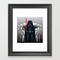 Darth Vader and Stormtroopers Framed Art Print