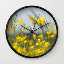 Yellow flowers 5 Wall Clock