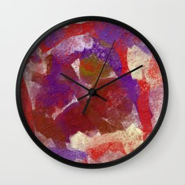 Purple and Red Abstract Wall Clock