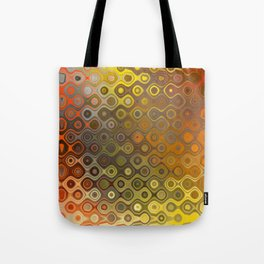 Wobbly Dots in yellow-orange Tote Bag