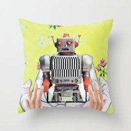 Hands On Automaton (Robot) Throw Pillow