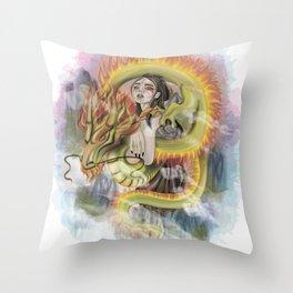 Dragon Princess Throw Pillow