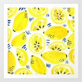 Lemon Bliss Art Print