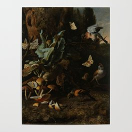 """Melchior d'Hondecoeter """"Animals and Plants"""" Poster"""