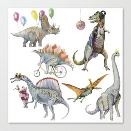 PARTY OF DINOSAURS Canvas Print