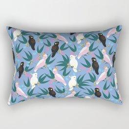 Cockatoos in the Garden Rectangular Pillow