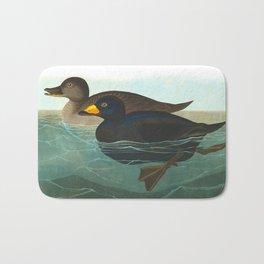 Scoter Duck Vintage Scientific Bird & Botanical Illustration Bath Mat