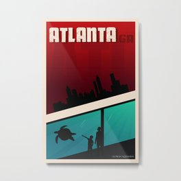 Atlanta Travel Poster Metal Print