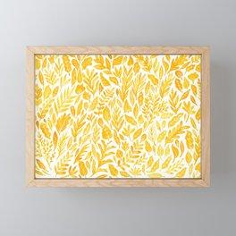 Dandelion Yellow Framed Mini Art Print