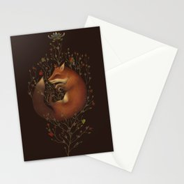 Fox among vines Stationery Cards