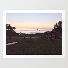 Salt Creek Sunset Art Print