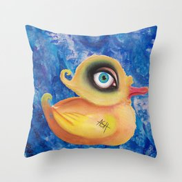 duck amused Throw Pillow