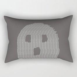 Ghost Typography Rectangular Pillow