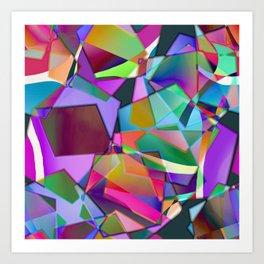 Lilac Patchwork Art Print