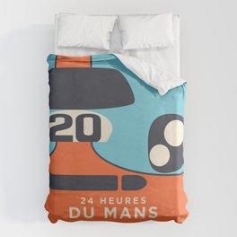Le Mans Minimal Retro C Duvet Cover