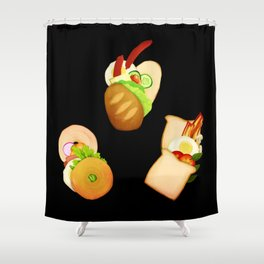 Bread and Sandwiches Shower Curtain